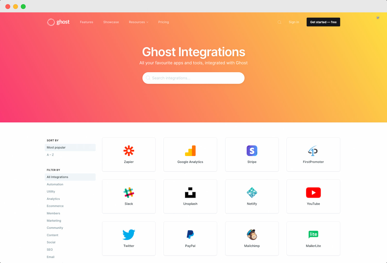 Ghost 博客插件拓展(Integrations)